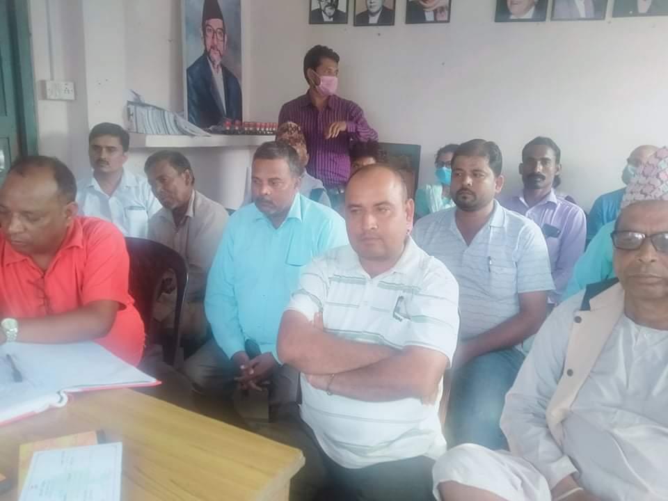 नेपाली कांग्रेश शिवराज नगर समितीको पहिलो बैठक सम्पन्न